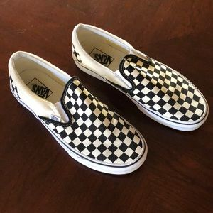 Men's Vans Checkerboard Slip Ons; Size 9.5